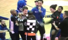 The Sixers Tricked a Fan Into Thinking He Hit a Blindfolded Shot and Won a Prize (Video)