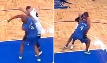 NBA Fight! Minnesota's Aaron Afflalo Goes After Orlando's Nemanja Bjelica…Is Immediately Put in Headlock (Video)