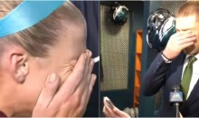 Zach Ertz Couldn't Contain His Emotions Watching His Wife React To Him Making The Super Bowl (VIDEO)