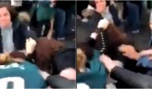 Even Female Eagles Fans Were Brawling Outside The Stadium Before Title Game (VIDEO)