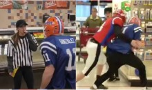 Urban Meyer's Daughter Refereed A Game With Two Guys In Full Football Gear Tackling In Target (VIDEO)