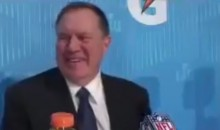 Bill Belichick Smiles and Laughs Just Like Real Human at Super Bowl Media Day (VIDEO)