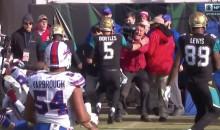 Blake Bortles Runs Into CBS Cameraman, Who Has An Epic Reaction (VIDEO)