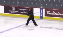 Calgary Flames Head Coach Goes on EPIC Rant, Launches Stick Into Stands During Practice (VIDEO)