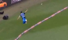 Two Players Combine for Absolutely BONKERS Cricket Catch (VIDEO)