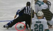 Nazem Kadri Rips Off Huge Chunk Of Joe Thornton's Beard During Hockey Fight (VIDEO)