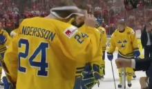 Sweden's Lias Andersson Tosses Silver Medal Into Crowd After Losing To Canada (VIDEO)