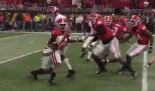 Bama's Mekhi Brown Delivers VICIOUS Clothesline Tackle On Georgia Player (VIDEO)