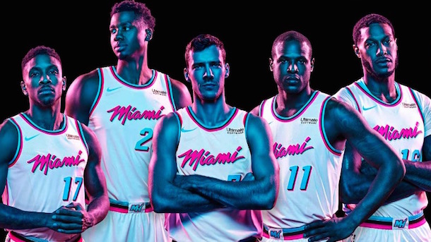 Total Pro Sports Miami Heat Vice City Uniforms Are Huge Hit