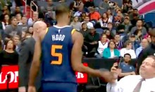 Jazz Guard Rodney Hood Slaps Phone Out of Fan's Hand After Getting Ejected (VIDEO)