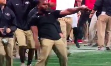 Georgia Coach Celebrated Bama's Missed Field-Goal With Greatest Dance Celebration EVER (VIDEO)