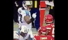 Titans' Taylor Lewan Flips Off Chiefs' Derrick Johnson During Wild Card Game (VIDEO)