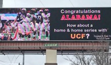 UCF Fans Buy Billboard in Tuscaloosa Challenging Alabama to Play Their Team (Pic)