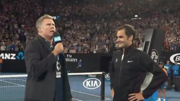 Will Ferrell interview Roger Federer