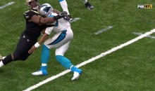 Cam Newton Collapses On Field After HUGE Hit (VIDEO)