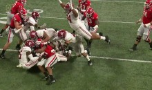 Alabama 300+ lb DT Da'Ron Payne Went Sky High To Jump On This Pile For A Tackle (VIDEO)