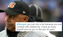 Cincinnati Bengals Fans Absolutely Rip Into The Franchise For Giving Marvin Lewis A 2-Year Extension (TWEETS)