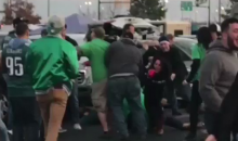 Eagles Fans Get Into A Massive Brawl With Each Other Before Title Game (VIDEO)