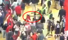 West Virginia Player Punches A Texas Tech Fan After Crowd Rushes The Court (VIDEO)