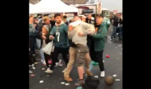 Eagles Fan Got Punched, Choked & Jumped By Other Eagles Fans Outside Stadium (VIDEO)