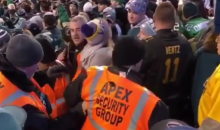 Female Vikings Fans Gets Kicked Out of Stadium, But Not Before She Spits On Eagles Fans (VIDEO)