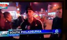 Excited Eagles Fan Calls Nick Foles 'Big D-ck Nick' On Live TV (VIDEO)