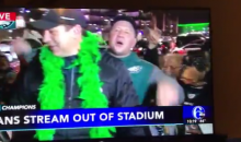 "Eagles Fan Screams ""F-CK TOM BRADY"" On Live TV After Victory (VIDEO)"