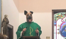 Priest Wears Philadelphia Eagles 'Underdog' Mask During Mass On Sunday
