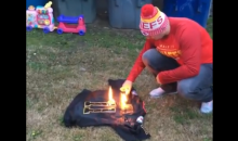 Kansas City Chiefs Fan Burns His Alex Smith Jersey After Playoff Loss To Titans (VIDEO)