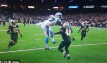 Social Media Rips Panthers' Devin Funchess For Not Giving His Best Effort To Catch Game Winning Ball (VIDEO)