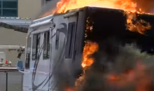 "Alabama Fan's RV Explodes Outside The Sugar Bowl & Her Only Comment Was ""ROLL TIDE"" (VIDEO)"
