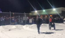 Hundreds of Buffalo Bills Fans Greeted Players As They Arrived At The Airport (VIDEO)