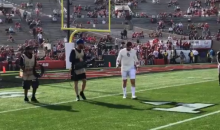 Baker Mayfield Pisses Off Georgia Players By Purposely Running Through Their Warmups Before The Rose Bowl (VIDEO)