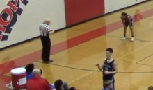 Wayward Basketball Pass Knocks Ref's Toupee Right Off His Head (VIDEO)