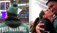 Karl Anthony Towns Rocked 'Free Meek Mill' Eagles Jersey at Super Bowl (PICS + VID)