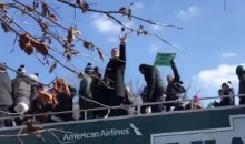 Coach Doug Pederson Makes EPIC One-Handed Beer Catch At Eagles Victory Parade (VIDEO)