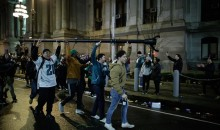 Eagles Fans Left No Traffic Lights, Nor Poles Outside City Hall In Philly (VIDEO)