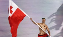 Tonga's Shirtless Flag Bearer Is Back For The Winter Olympics…Still Shirtless (PICS)