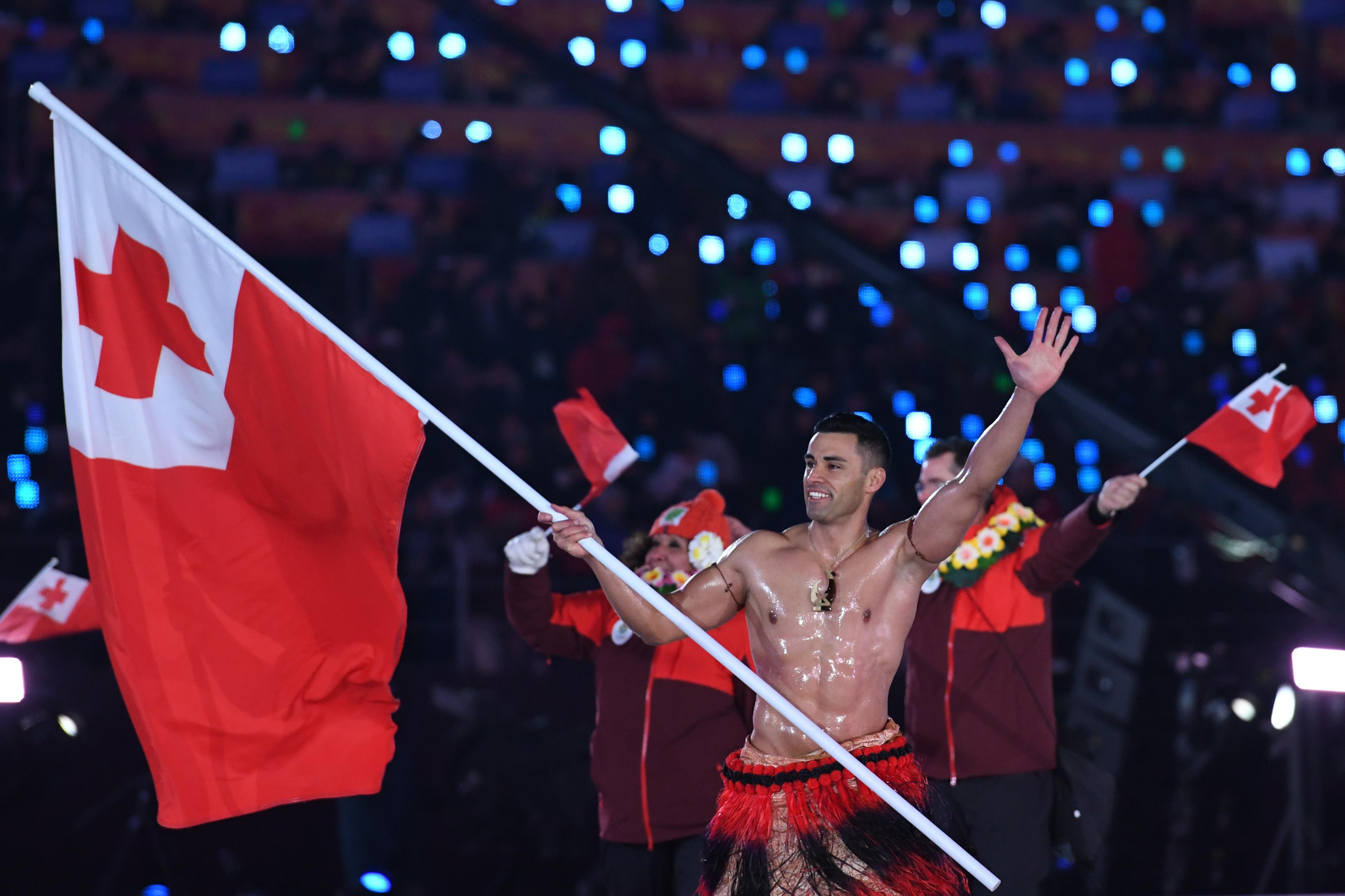 Winter Olympics: Shirtless Tongan Flag Bearer Goes Viral (Again)