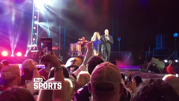 J-Lo Trolls Patriots Fans with A-Rod at Super Bowl Concert