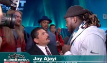 Jimmy Kimmel's Guillermo Wreaked Havoc On Super Bowl Opening Night (VIDEO)