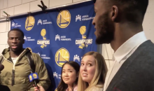 Draymond Green Paid Evan Turner $100 For a Lost Bet During Post-Game Interview (VIDEO)