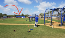 Tim Tebow Smacked This Dinger a LOOOONG Way During Mets BP (PIC)