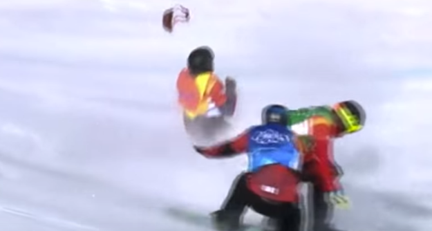 Snowboarder Breaks His Neck During Olympic Event, Finishes The Race