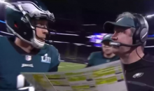 Watch Nick Foles Reaction As He Was Told To Run The 4th Down Trick Play (VIDEO)