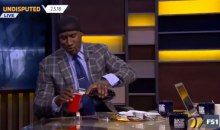 Shannon Sharpe Celebrated Eagles Win By Wearing Wave Cap, Smoking Black & Mild & Drinking Henny (VIDEO)