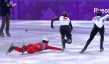 North Korean Speed Skater Went Full Grayson Allen & Tried To Purposely Trip Opponent (VIDEO)