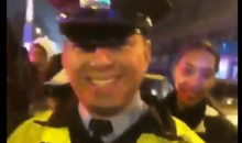 """Eagles Fans Got A Police Officer To Say """"Free Meek Mill"""" During Celebration (VIDEO)"""