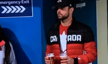 Canadian Curler Rachel Homan's Hubby Watches His Wife Compete While Double Fisting Beers At 9am