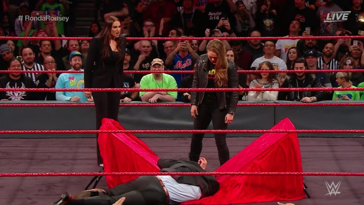 Ronda Rousey Put Triple H Through A Table At Elimination Chamber